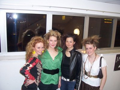 Luz, Abi, P n Char (Coolio cool super 80's hairstyles)