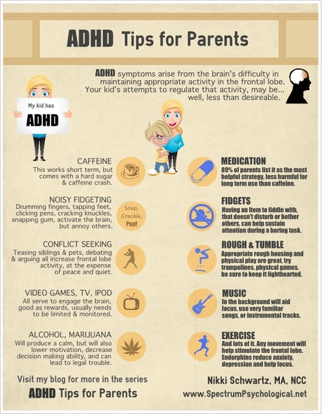 Infographic: ADHD Tips for Parents